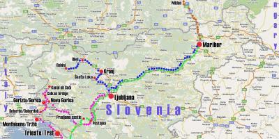 Cartina Turistica Slovenia.Slovenia Mappa Mappe Slovenia Europa Del Sud Europa