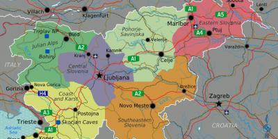 Cartina Slovenia Pdf.Slovenia Mappa Mappe Slovenia Europa Del Sud Europa