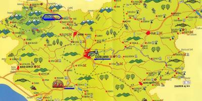 Cartina Turistica Slovenia.Slovenia Mappa Visite Turistiche Mappa Della Slovenia Turistiche Europa Del Sud Europa